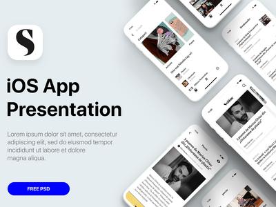 Minimal iOS App Presentation Template