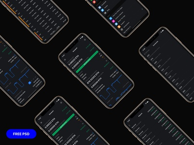 Elegant Dark Minimal iOS App Presentation