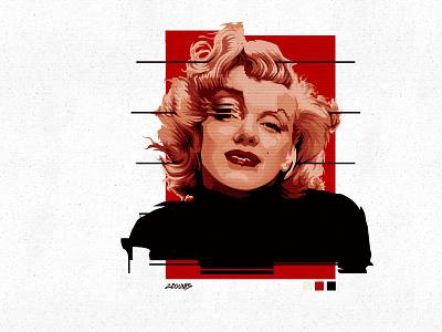 Marilyn Monroe vector portrait adobe adobe photoshop retro design retro 1960s pop music vector portrait adobe ilustrator vector marilyn monroe