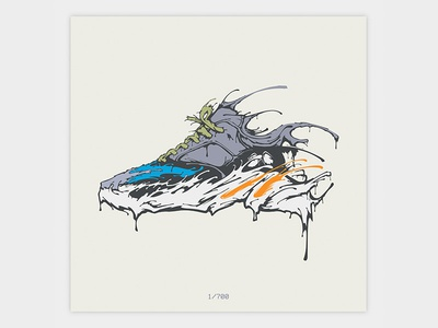 Wavy Yeezy 700 Waverunner - Drip Illustration hype hypebeast fashion shoe shoe design vector waverunner yeezy 700 yeezy illustration
