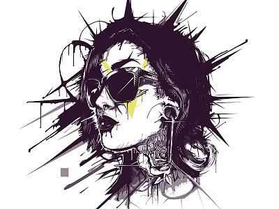 Kehlani Vector Portrait album cover kehlani drip dripping liquid vector melting girl melting vector portrait portrait
