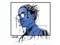 A$AP Rocky Vector Portrait