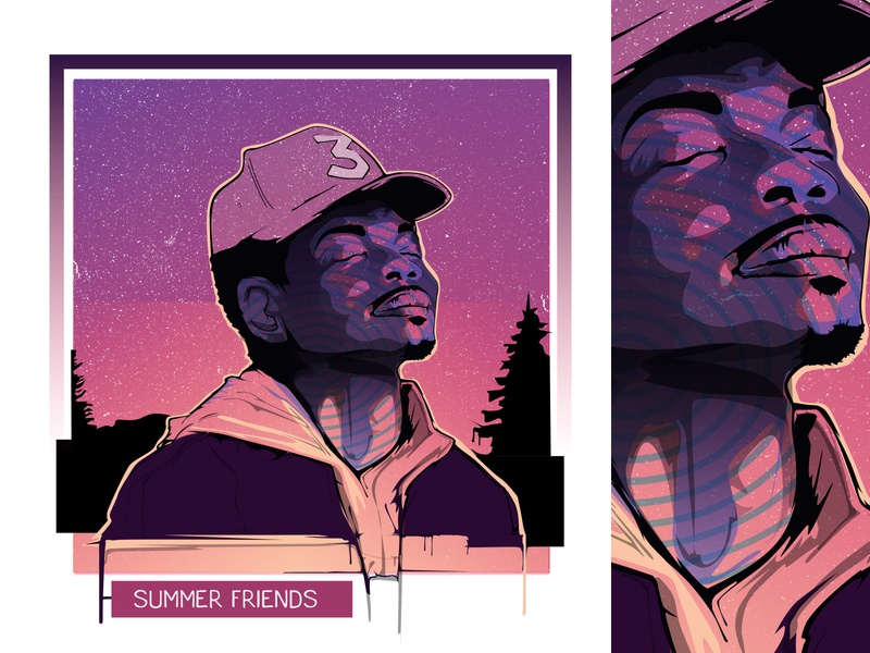 Chance The Rapper: Vector Drip Portrait adobe illustrator hiphop rapper portrait vector portrait mixtape mixtape cover acid rap the rapper chance the rapper