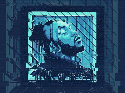 Vector Kendrick Lamar Portrait album cover album art vector vector portrait black panther kendrick kendrick lamar
