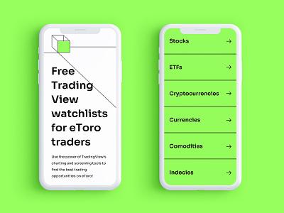 Trading Tool Website trading ui web