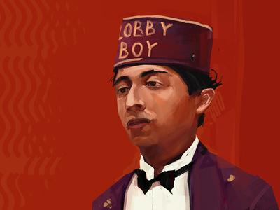 Lobby Boy - Grand Budapest Hotel