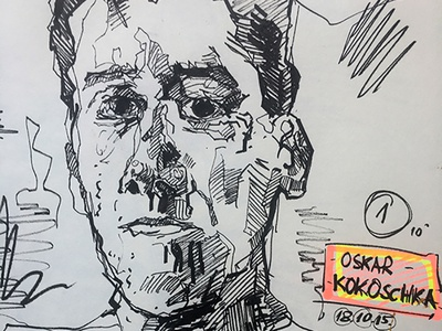 Oskar Kokoschka Study