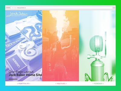 Portfolio Concept website one-page layout new designer