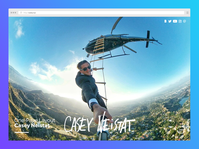 Casey Neistat Website Re-Design