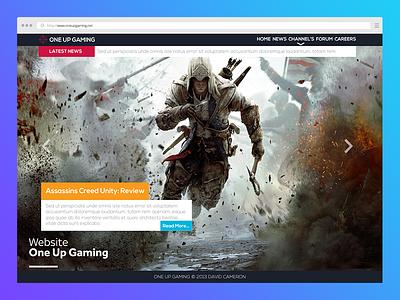 One Up Gaming psd website designer new