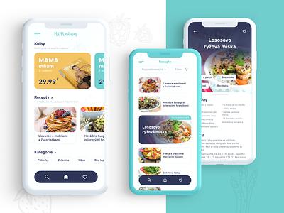 MAMA mňam   Recipe app concept food app design food app food design recipe app recipes user experience userinterface interface uiux ui app design concept app