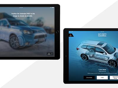 Outlander PHEV Augmented Reality ui ux design vehicle augmentedreality mitsubishi outladner car