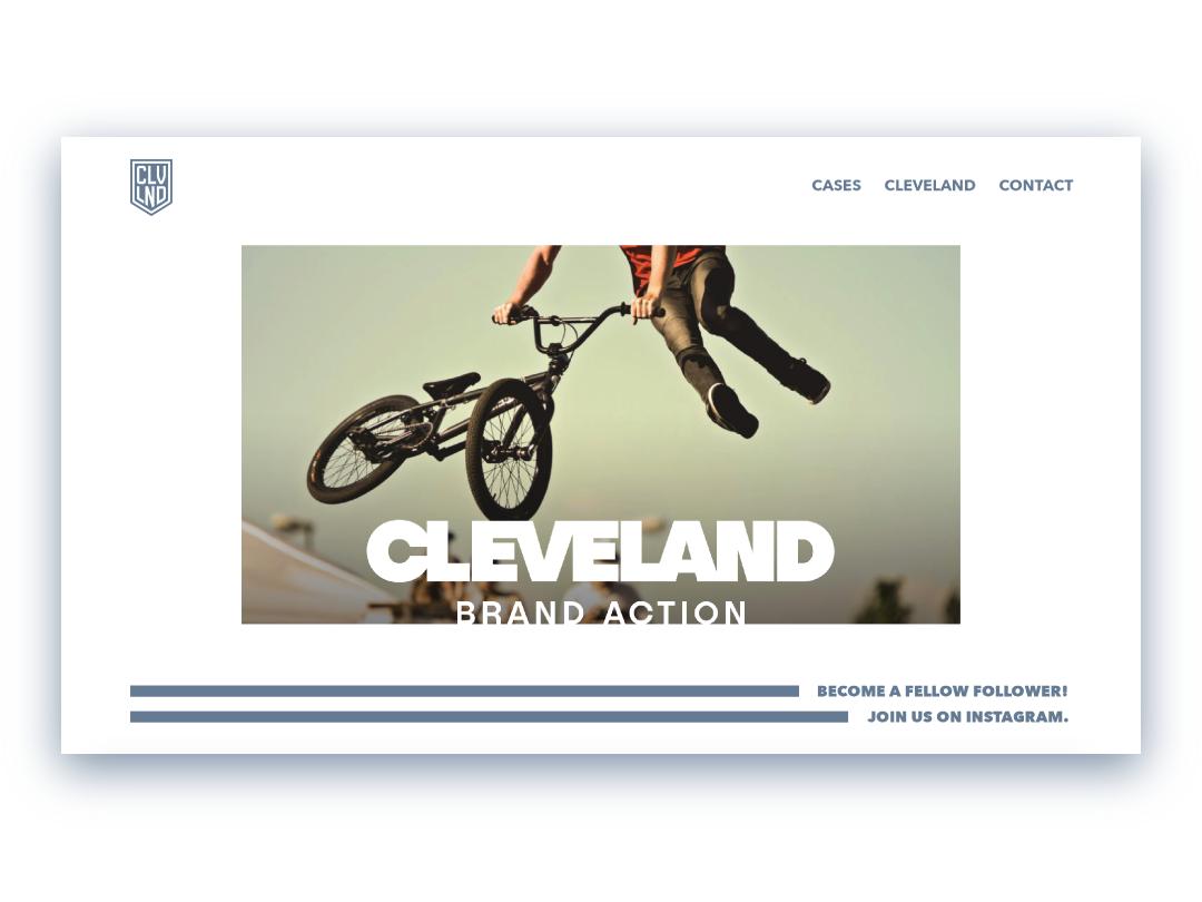 Cleveland Brand Action Microsite 2018 microsite digital design webdesign web design ui