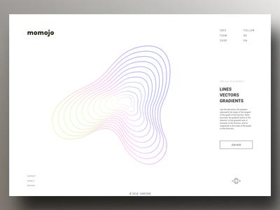 momojo website draft identity clean website web illustrator minimal branding design microsite flat vector logo ux ui webdesign digital design