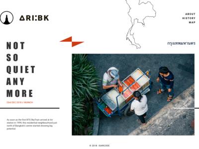 Ari:BK Microsite minimal design ui digital design webdesign web microsite digital uidesign website design website
