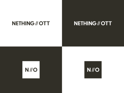 Brand Identity for NETHING//OTT Architects black white black and white blackandwhite logos brand design branding design icon design icon logodesign logotype brandmark vector typography logo clean branding identity design minimal digital design
