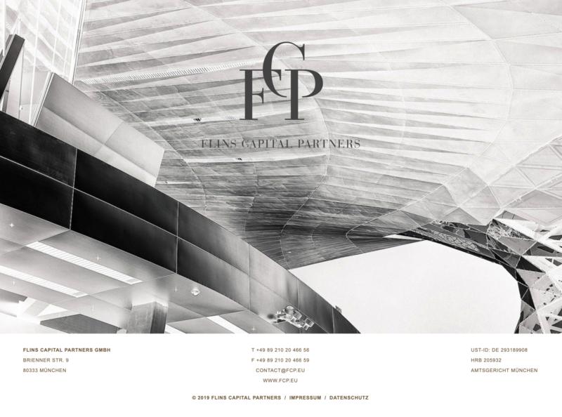 FLINS Capital Partners responsive design onepage comingsoon coming soon page landingpage vector webdesign clean minimal digital design design