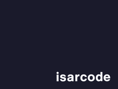 The new isarcode brand identity.