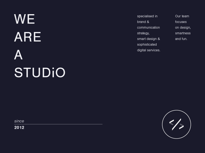 We are a studio. vector digital webdesign typography identity branding clean minimal digital design design