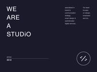 We are a studio.
