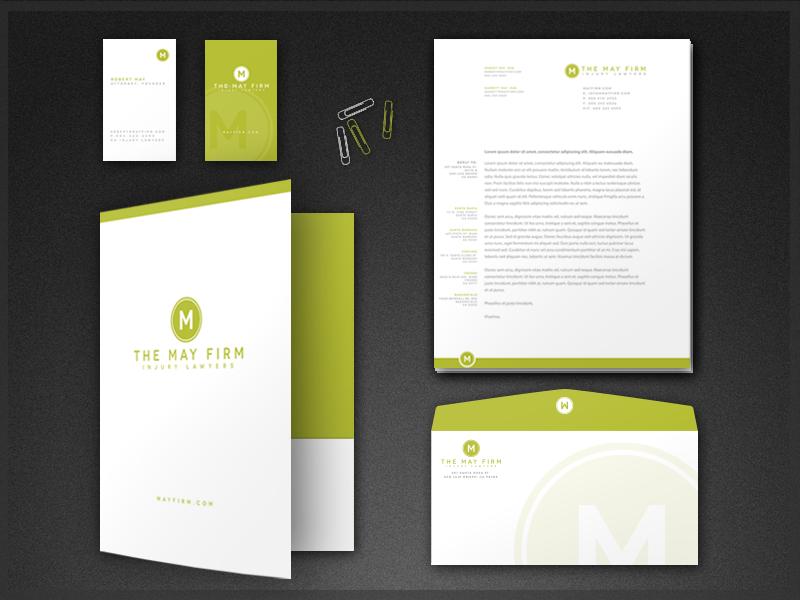 May Firm Stationery and Logo Design stationery logo letterhead design business cards businesscards folder brand branding