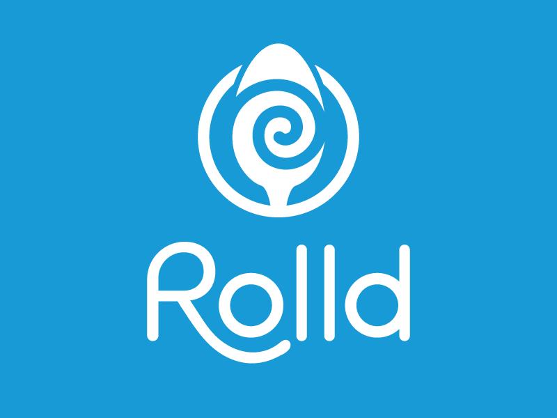 Rolld Ice Cream logotype logo identity branding