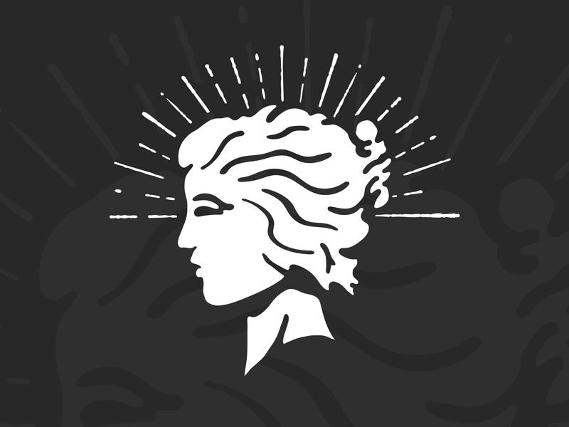 Nikle girl liberty alcohol whiskey logotype logo identity branding