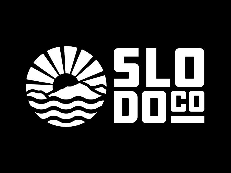 SLODOCO central coast san luis obispo beach ocean surf doughnut coffee donut logotype logo identity branding