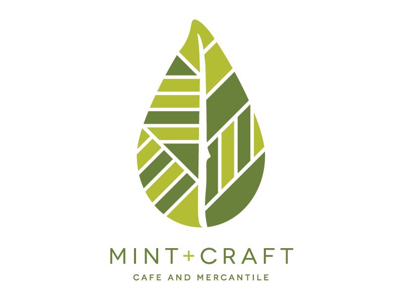 Mint and Craft visual identity central coast san luis obispo knife 805 slo mint branding logo restaurant cafe leaf
