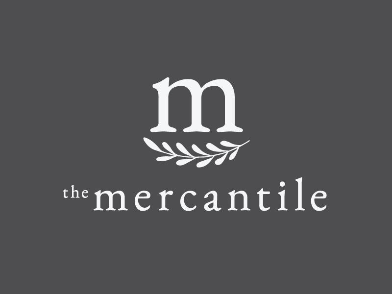 The Mercantile visual identity san luis obispo central coast smile m design slo leaf sprig mercantile branding logo