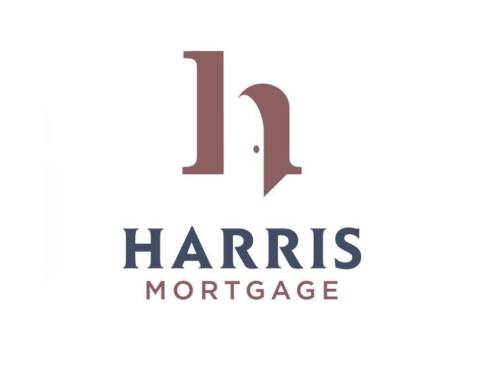 Harris Mortgage door design logotype slo ventura central coast visual identity branding brand and identity logo