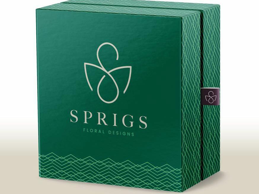 Sprigs Floral Design design identity branding central coast logotype slo san luis obispo visual identity logo floral