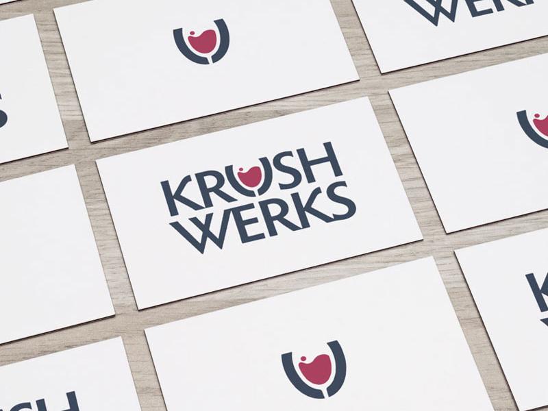 KrushWerks wine alcohol logotype identity central coast visual identity design logo branding