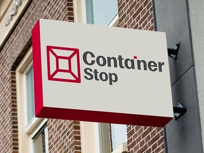 Container Stop central coast wordmark brand identity visual identity design logo branding