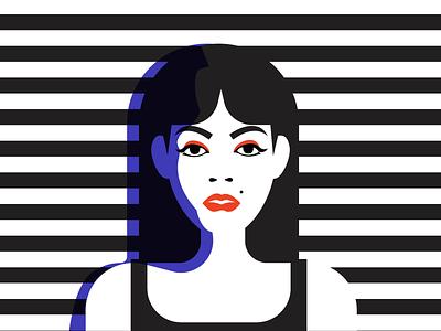 Woman clean minimal vector illustrator illustration flat design art