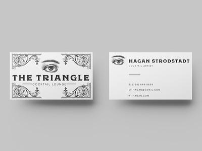 The Triangle Cocktail Lounge art flat clean vector identity illustrator lettering type minimal typography branding illustration logo design
