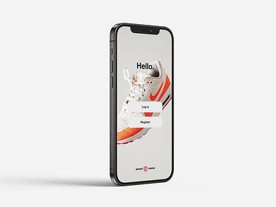 Sport vision app mobile sport graphic design ui