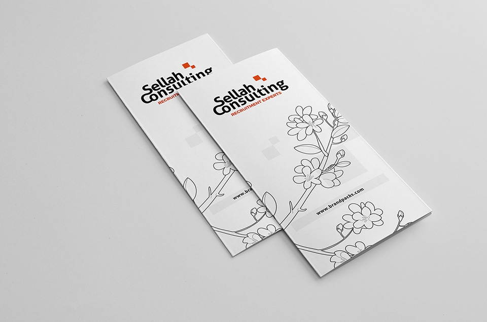 Free trifold template front