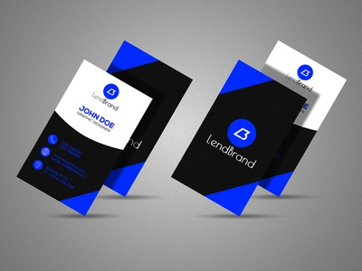 Free Vertical Business Card Mockup | Vol 2