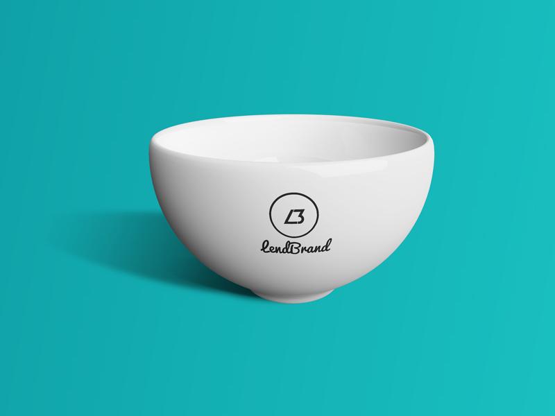 Bowl logo mockup