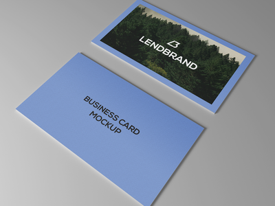 Free Business Card PSD Mockup Vol 3