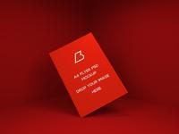 flyer mockup design - Free A4 Flyer PSD Mockup