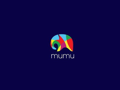 Mumu Logo Design lendbrand logo designs colorful logo animal logo elephant branding logos