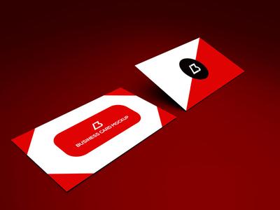 Free Business Card PSD Mockup Vol4