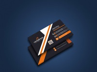 Perspective business card mockup2
