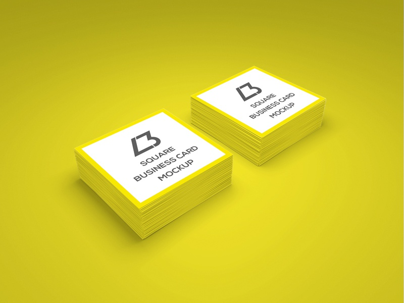 Free square business card psd mockup by lendbrand dribbble reheart Image collections