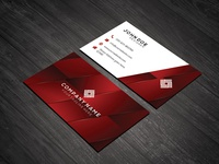Reddish Abstract Print Ready Business Card Template