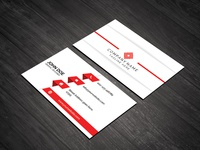 Red & White Print Ready Business Card Template