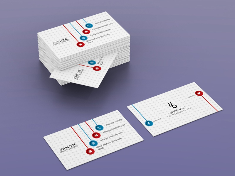 horizontal bulk business card psd mockup - Bulk Business Cards