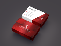 Free Floating Business Card PSD Mockup